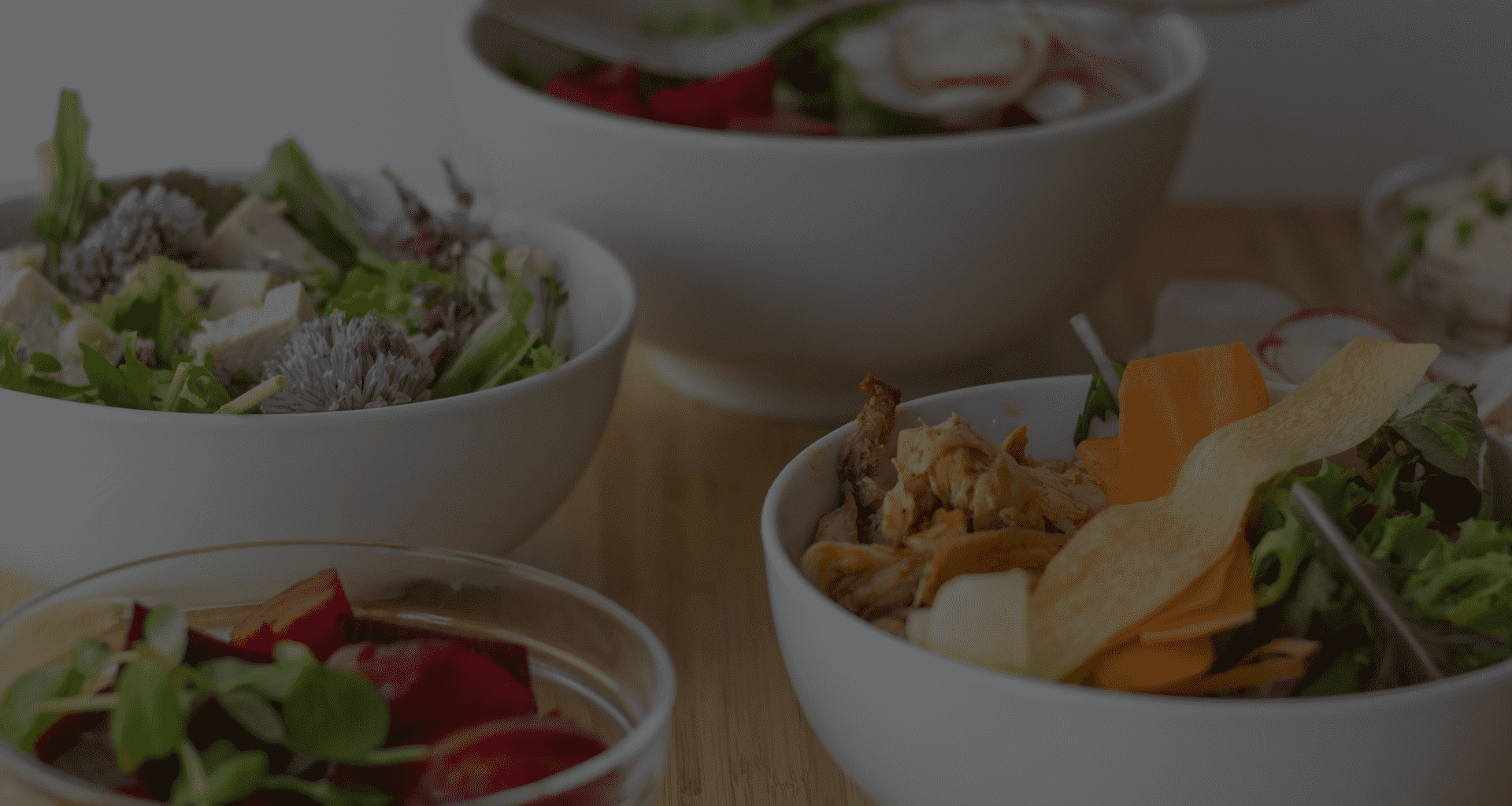 Corporate catering service healthy vegatable bowls for office lunch
